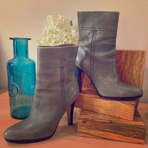 Cole Haan Grey Leather Ankle booties